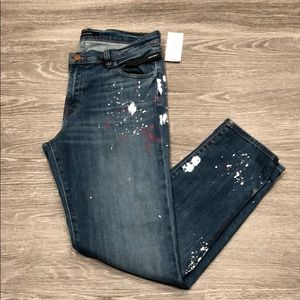 """J Brand """"Johnny"""" Mid-Rise Boy Fit Jeans"""